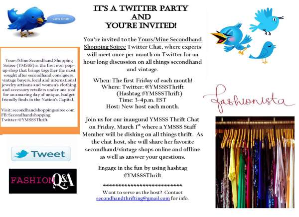monthly twitter party flyer