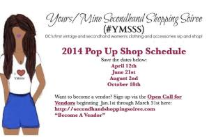 pop up shop schedule