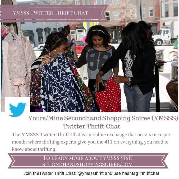 YMSSS Twitter Thrift Chat flyer